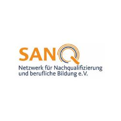 Der SANQ e. V. ist ein gemeinnütziger Verein, in dem Berliner Bildungsdienstleister verbunden sind, die im Bereich der abschlussorientierten modularen Nachqualifizierung tätig sind oder werden möchten. Der SANQ e. V. fördert die Etablierung der Nachqualifizierung als relativ neuem Weg zum Berufsabschluss nach Standards, die vom SANQ e. V. mit der IHK und verschiedenen Innungen für die Nachqualifizierung vereinbart sind. Die Vorzüge der Nachqualifizierung bestehen vor allem darin, den Berufsabschluss schrittweise über die Erlangung berufsanschlussfähiger Teilqualifikationen erwerben sowie dazu bereits erworbene berufliche Vorerfahrungen nutzen und so Qualifizierungszeiten bis zum Berufsabschluss verkürzen zu können. https://www.sanq.de/